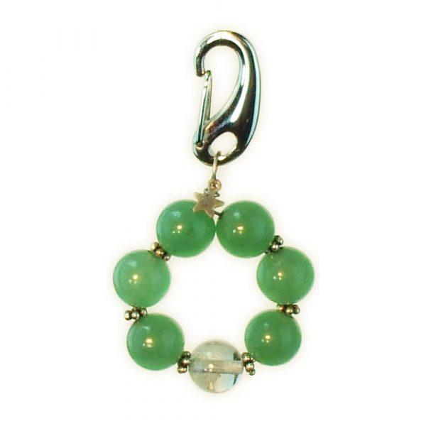 Green Aventurine Titanium Tough Collar Charm for Dog Cat or Pet