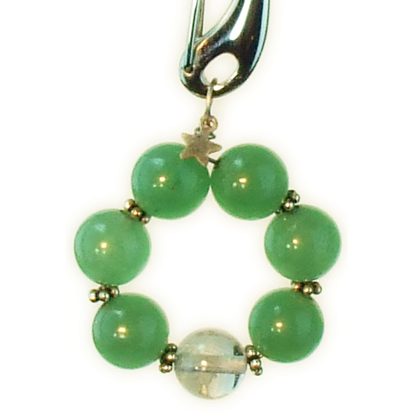 Green aventurine collar charm, dog collar charm, and dog jewlery.