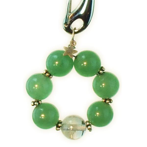 Green aventurine collar charm, dog collar charm, and dog jewlery.