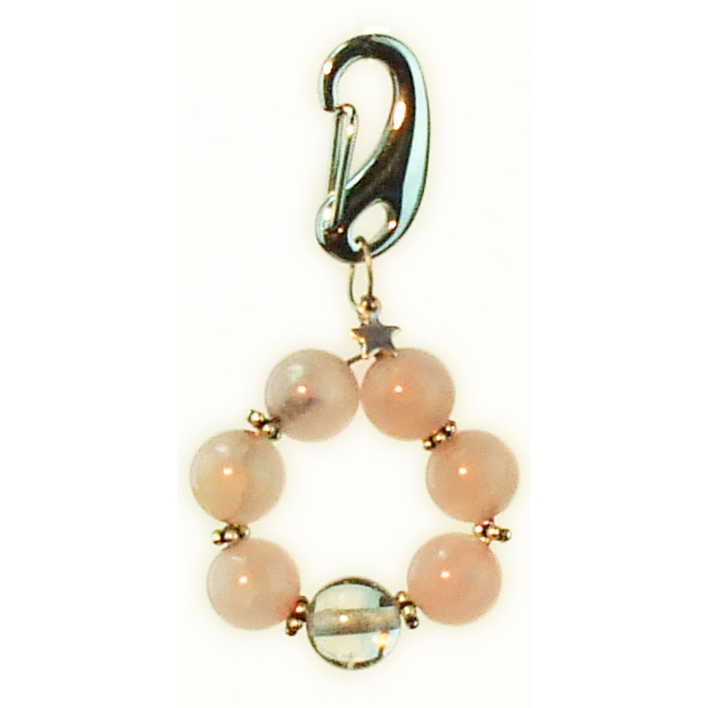 Rose Quartz Collar Charm for Dog Cat or Pet